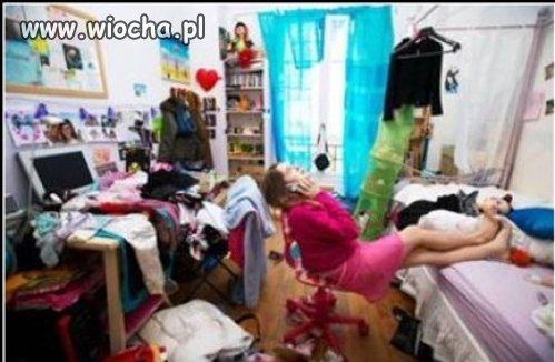 Posprzątanie pokoju niczym nie grozi...