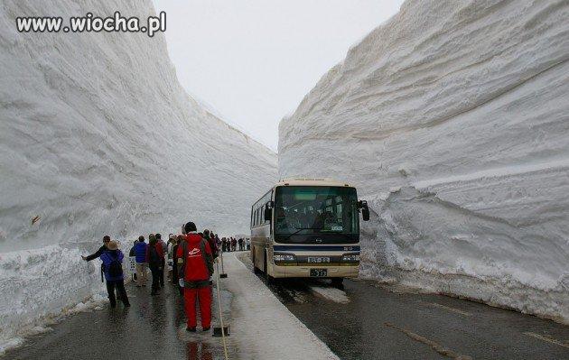 Japonia : 9 metrów śniegu i widać asfalt...