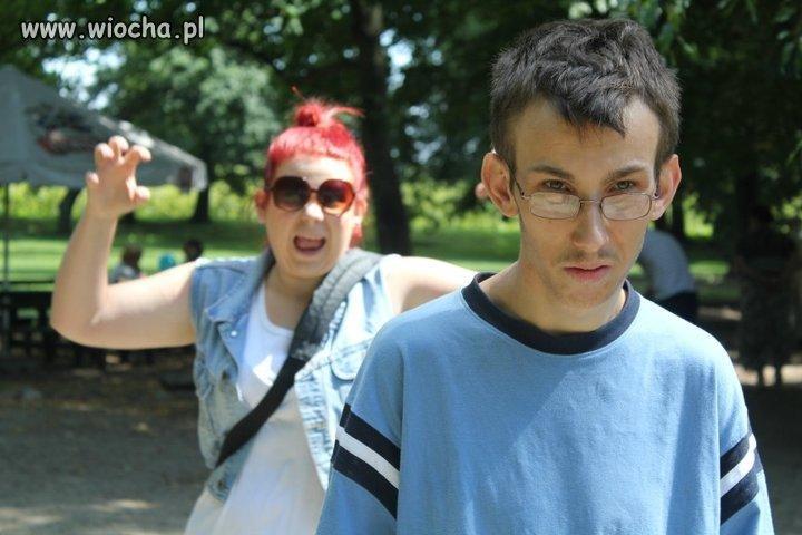 "Opis pod zdjęciem: ""Ja i moja Krysia"""