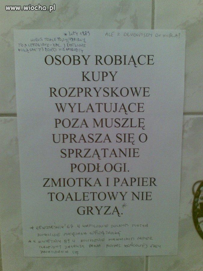 Toaleta w redakcji pewnej Gazety z woj. Lubuskiego