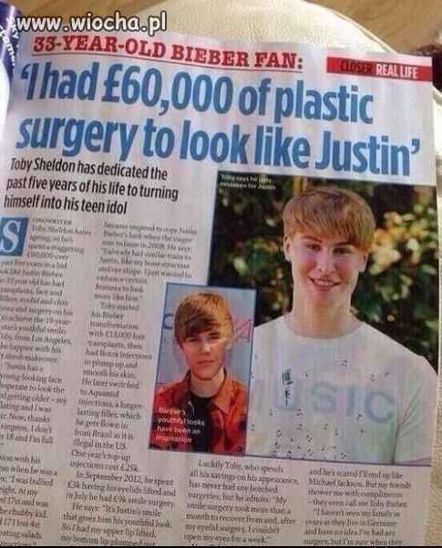 33-latek wydał 60 000 funtów na operacje