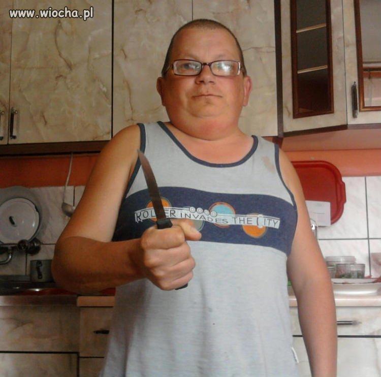 Obleszek z nożem