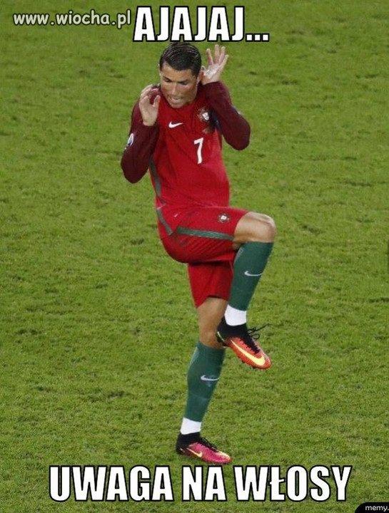 Niemoc Ronaldo...to wina fryzjera
