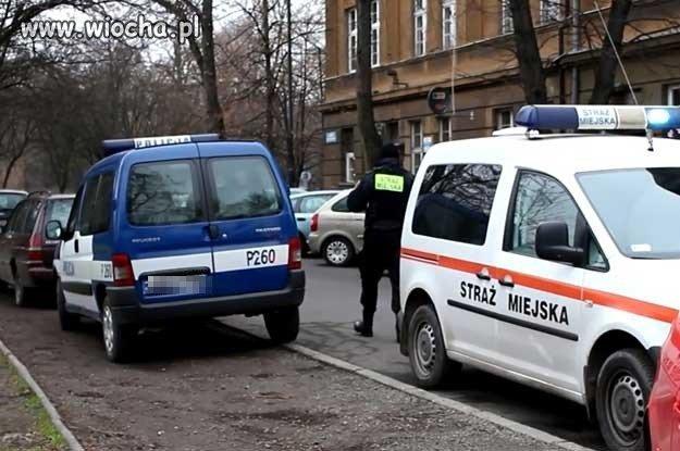 Sensacja!! straż miejska wlepiła mandat policji