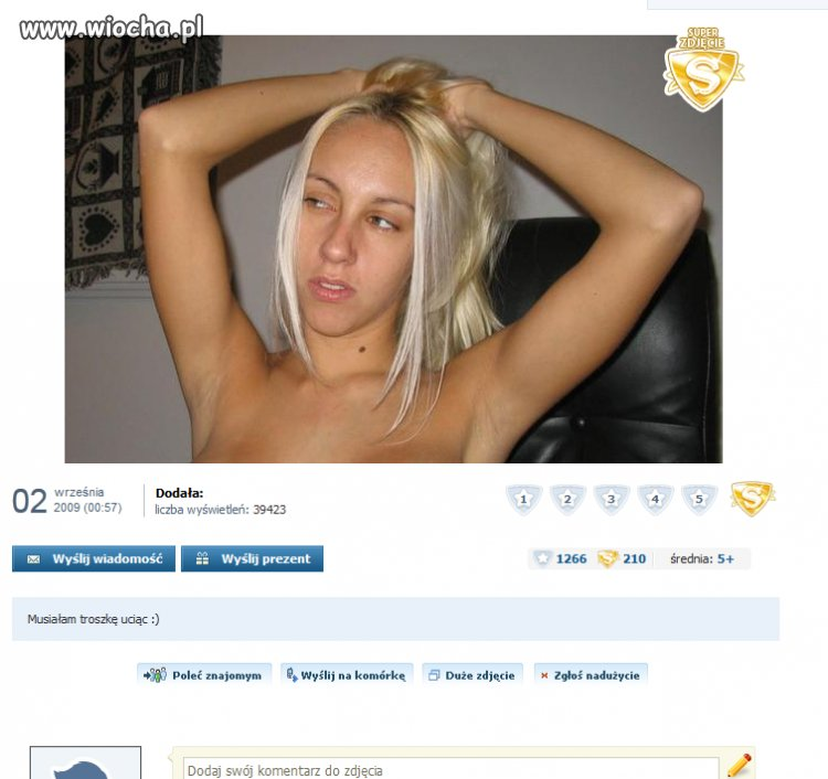 Musia�a troszk� uci��