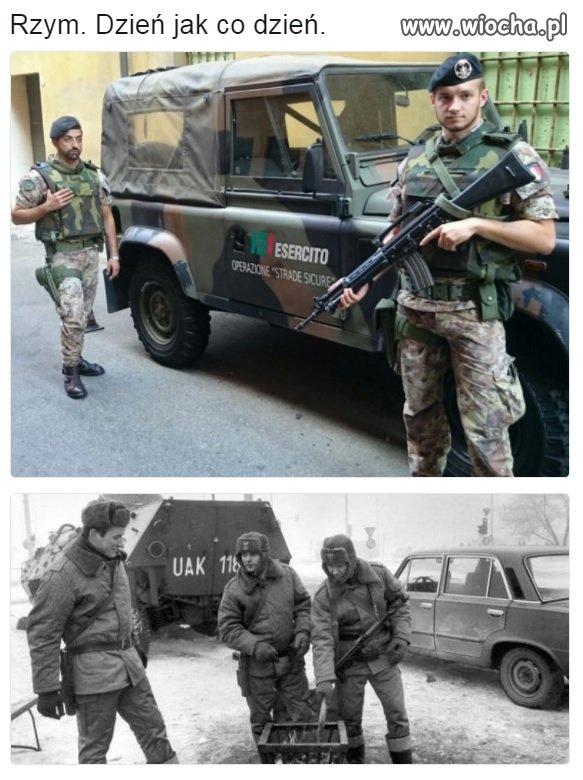 Wojsko i policja na ulicach