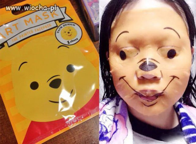 Maska Kubusia Puchatka dla dzieci