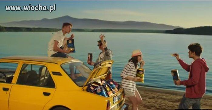 Reklama Lays - Skoda 105 z silnikiem z tyłu.