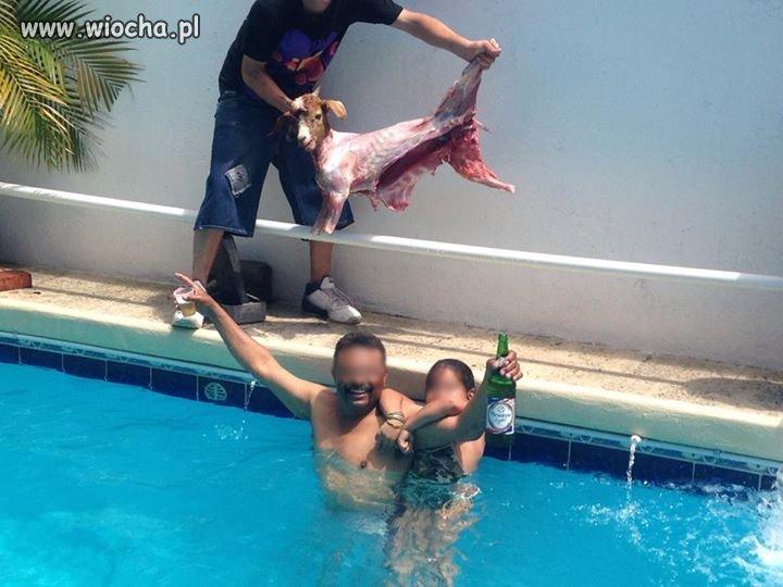 Takie tam w basenie