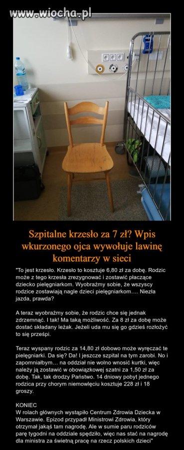 Szpitalne krzesło...