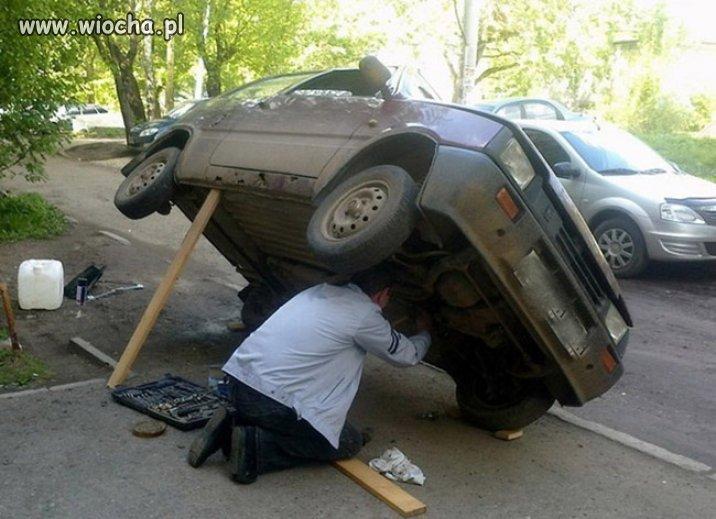A samochód naprawiam tak