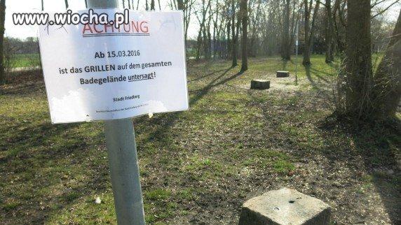 Zakaz grilowania w Niemczech.