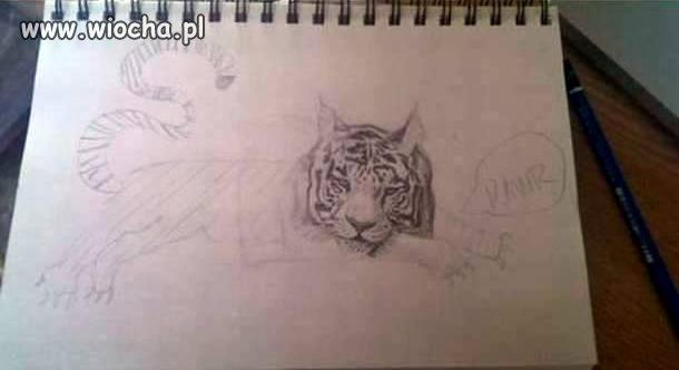 Rysowałem sobie tygrysa