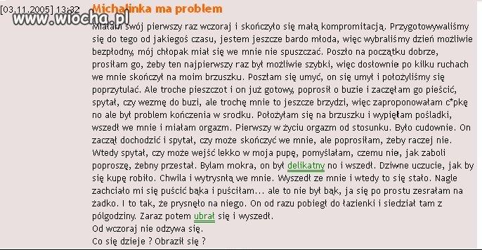 Problem Michalinki.