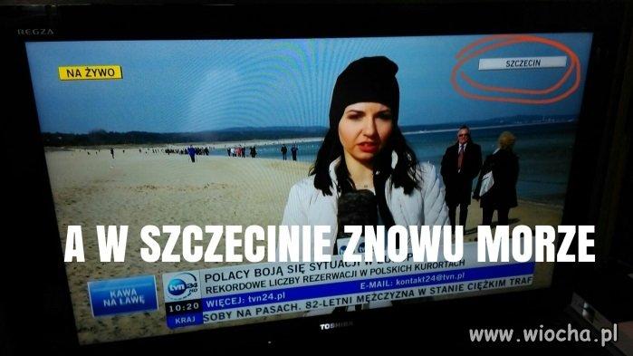 TVN nad morzem w Szczecinie