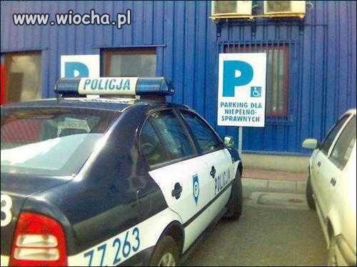 Policja - niepełnosprawni umysłowo.