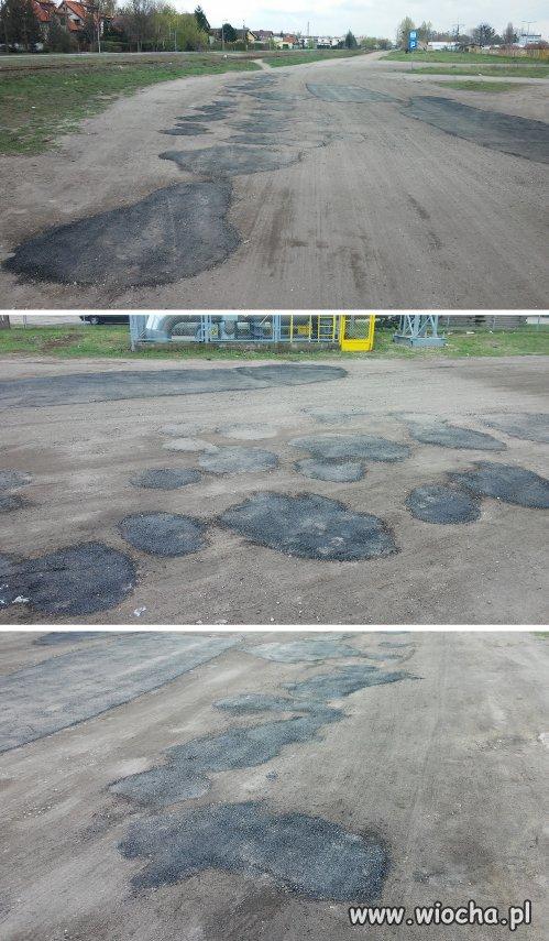 W Toruniu łatają drogi na bogato
