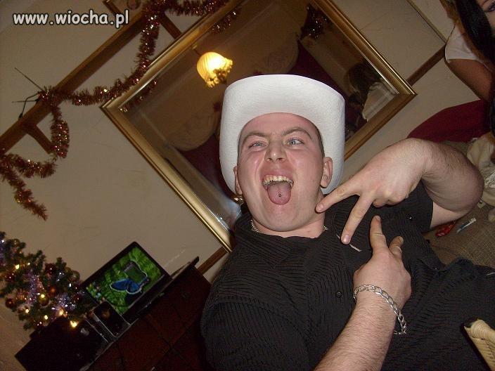 Biały kapelusik...
