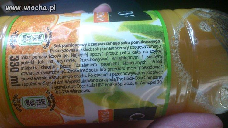 Sok Pomidorowy o smaku Pomarańczowym...