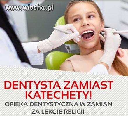 Dentysta w każdej szkole tak jak kiedyś było