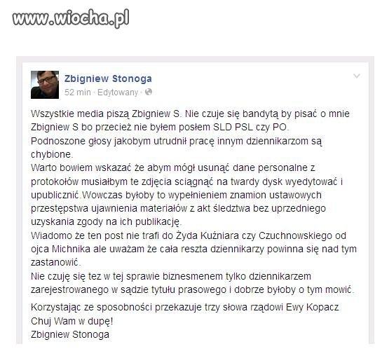 Trzy słowa do rządu od Zbyszka