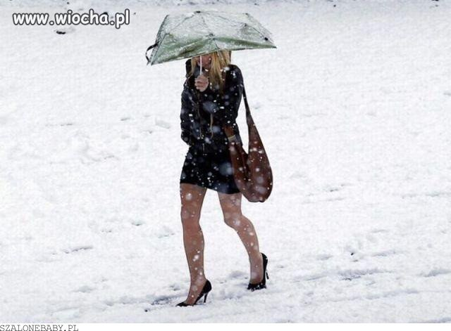 Chyba panią zima zaskoczyła