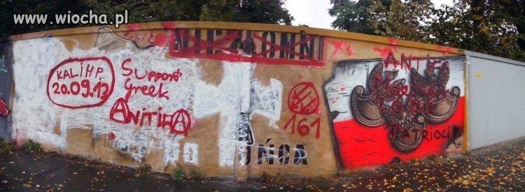 Tzw antifa zniszczyła murał ku czci Żolnierzy Wyklętych