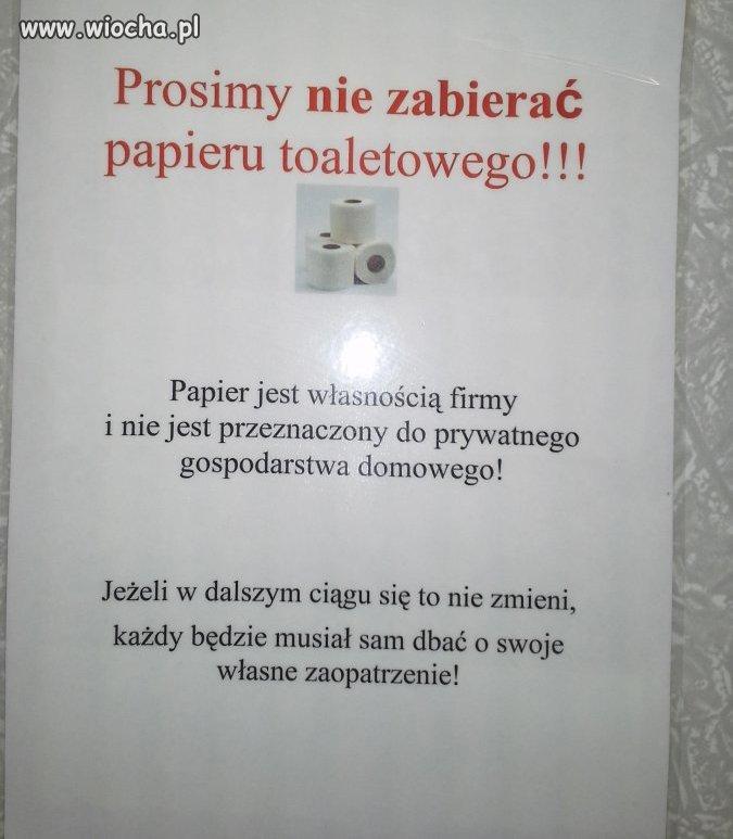 W toalecie pewnej niemieckiej firmy gdzie pracuje