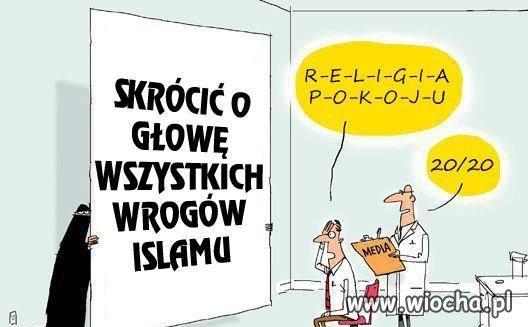 """Kolejna przedstawicielka """"religii pokoju""""..."""
