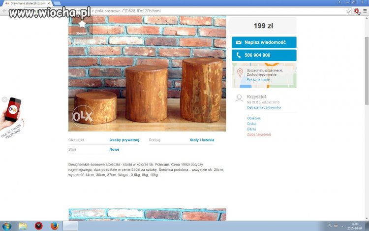 Drewniane stołeczki