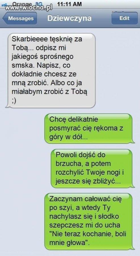 Sprośny SMS