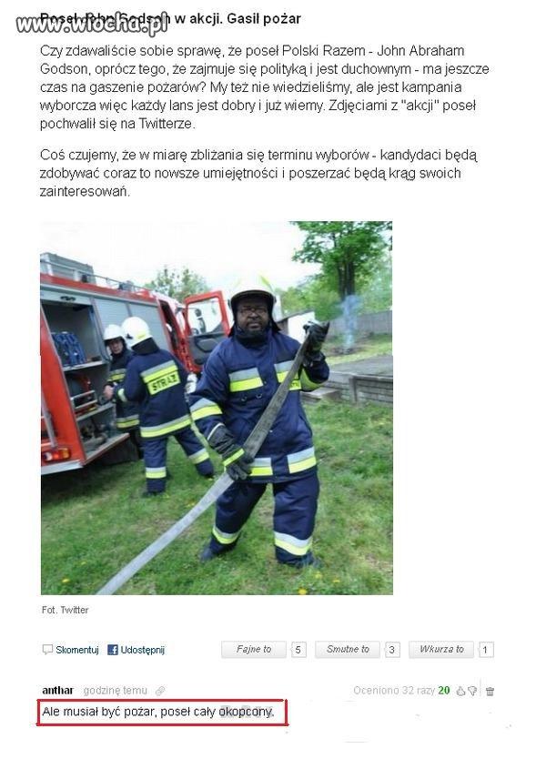 Jak Godson został strażakiem