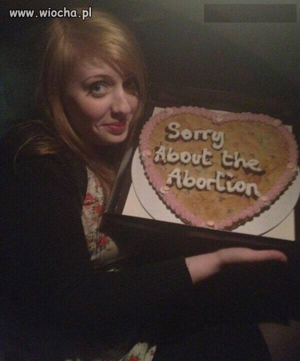 Przepraszam za aborcję...