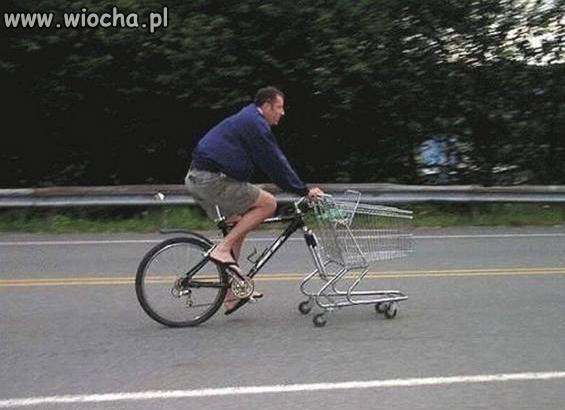 Wycieczka rowerowa na zakupy.