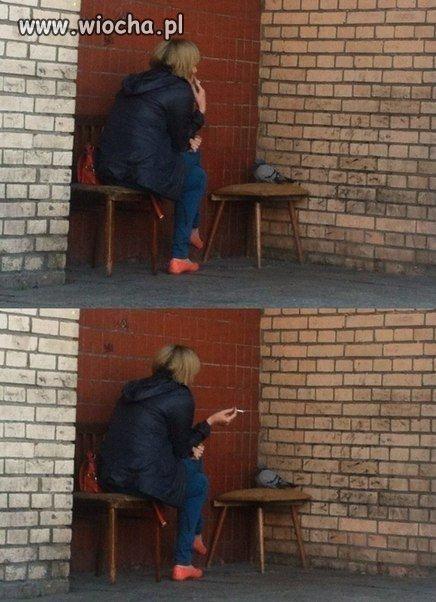 Pogawędka przy papierosie