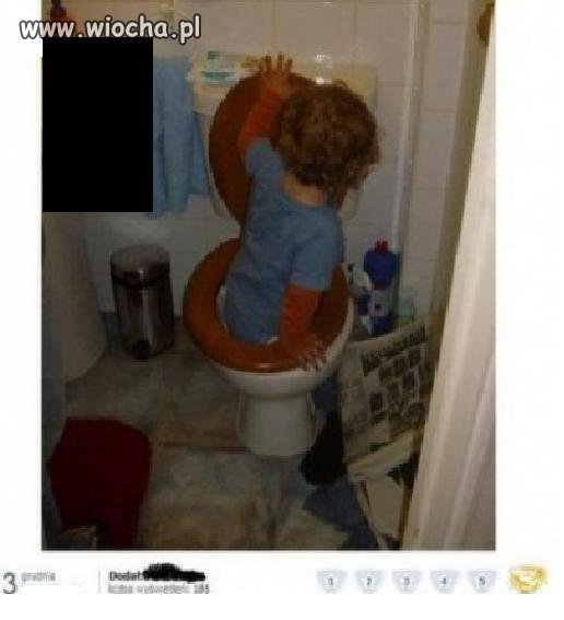 Najlepiej wsadzić dzieciaka do kibla
