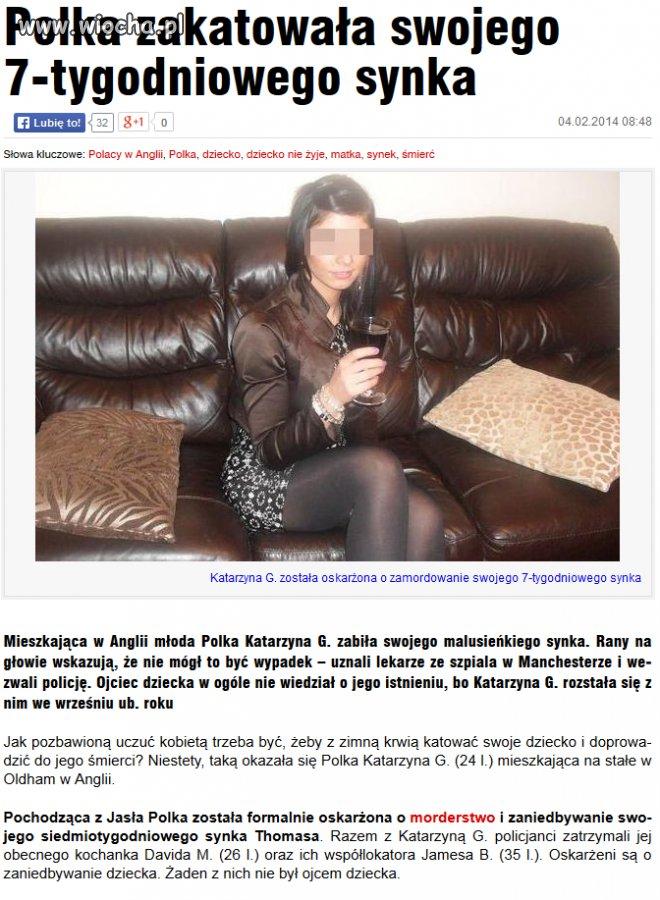 Zamordowała swoje 7-tygodniowe dziecko