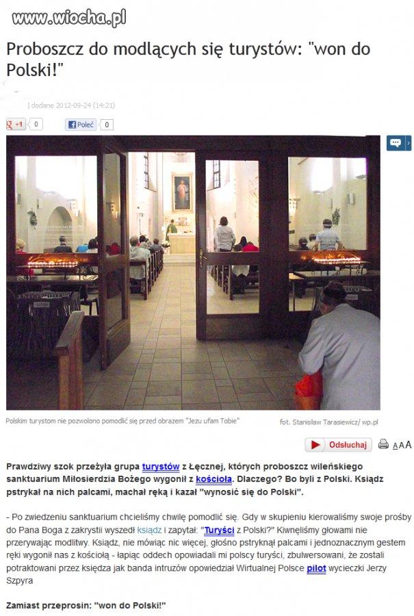 Proboszcz wygonił polskich turystów z kościoła