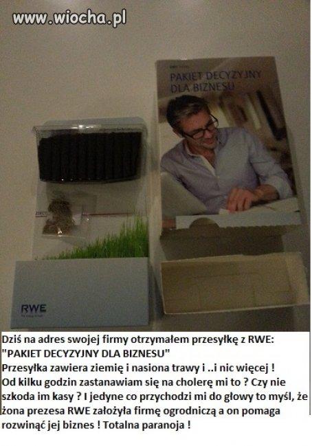 Dziś otrzymałem to z RWE