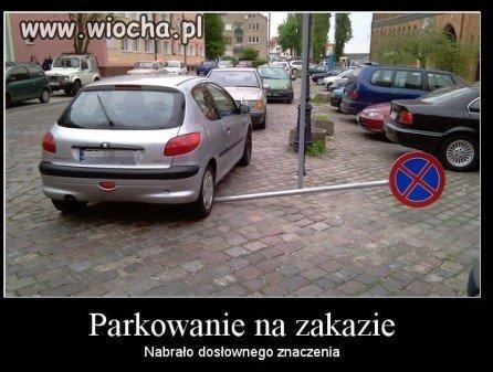No to zaparkował/a