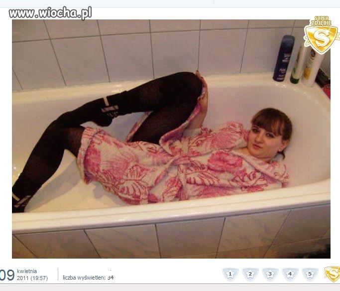 Kolejna foczka w wannie