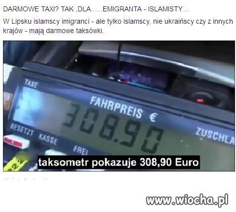 Darmowe taxi dla Islamisty.