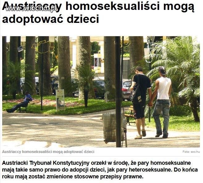 Austriaccy homoseksualiści mogą adoptować dzieci