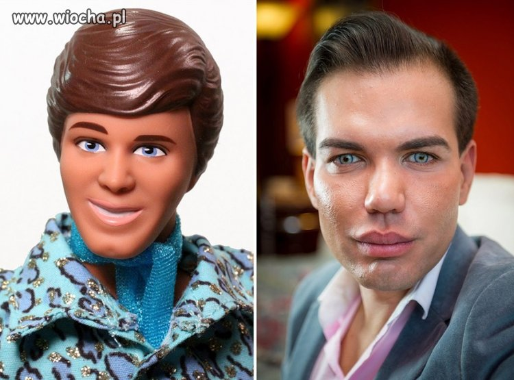 Żywa Barbie już była,a on chce wyglądać jak Ken