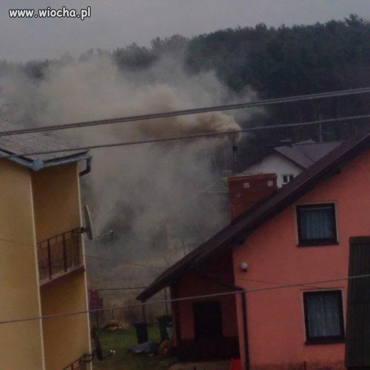 Tak się pali w piecu w Bolęcinie w Małopolsce