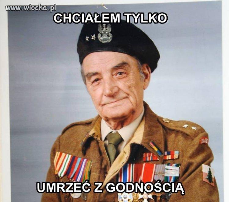 Zmarł J.Cichy lat96 - żołnierz walczący pod Monte Cassino.