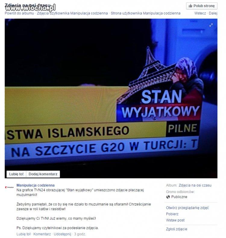 W TVN to muzułmanki płaczą