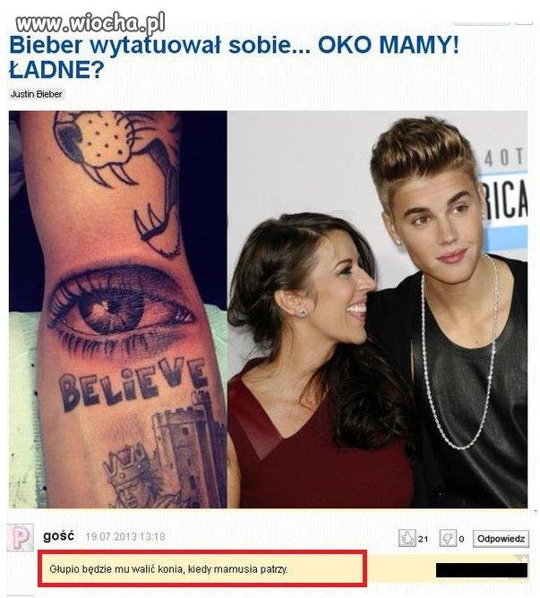 Bieber wytatuował sobie...