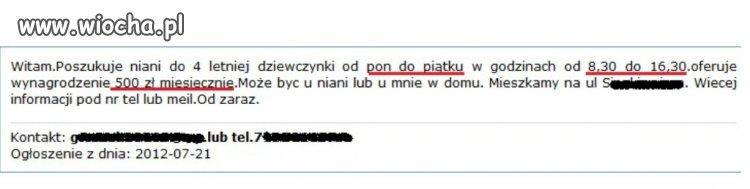 Og�oszenie niania Stargard Szczeci�ski