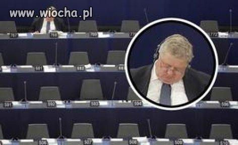 Europoseł Czesław S. z PSL zasnął w Brukseli...